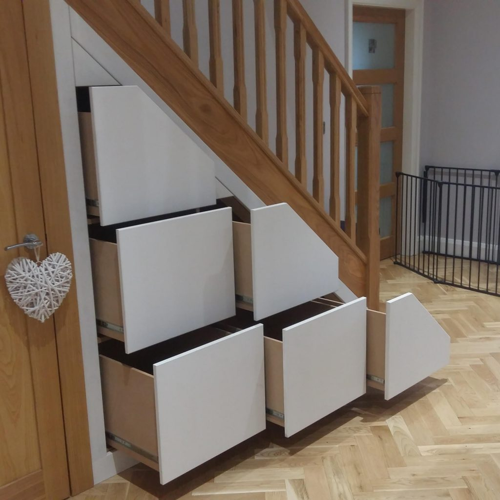 Bespoke Under Stairs Shelving: Bespoke Understair Storage Solutions